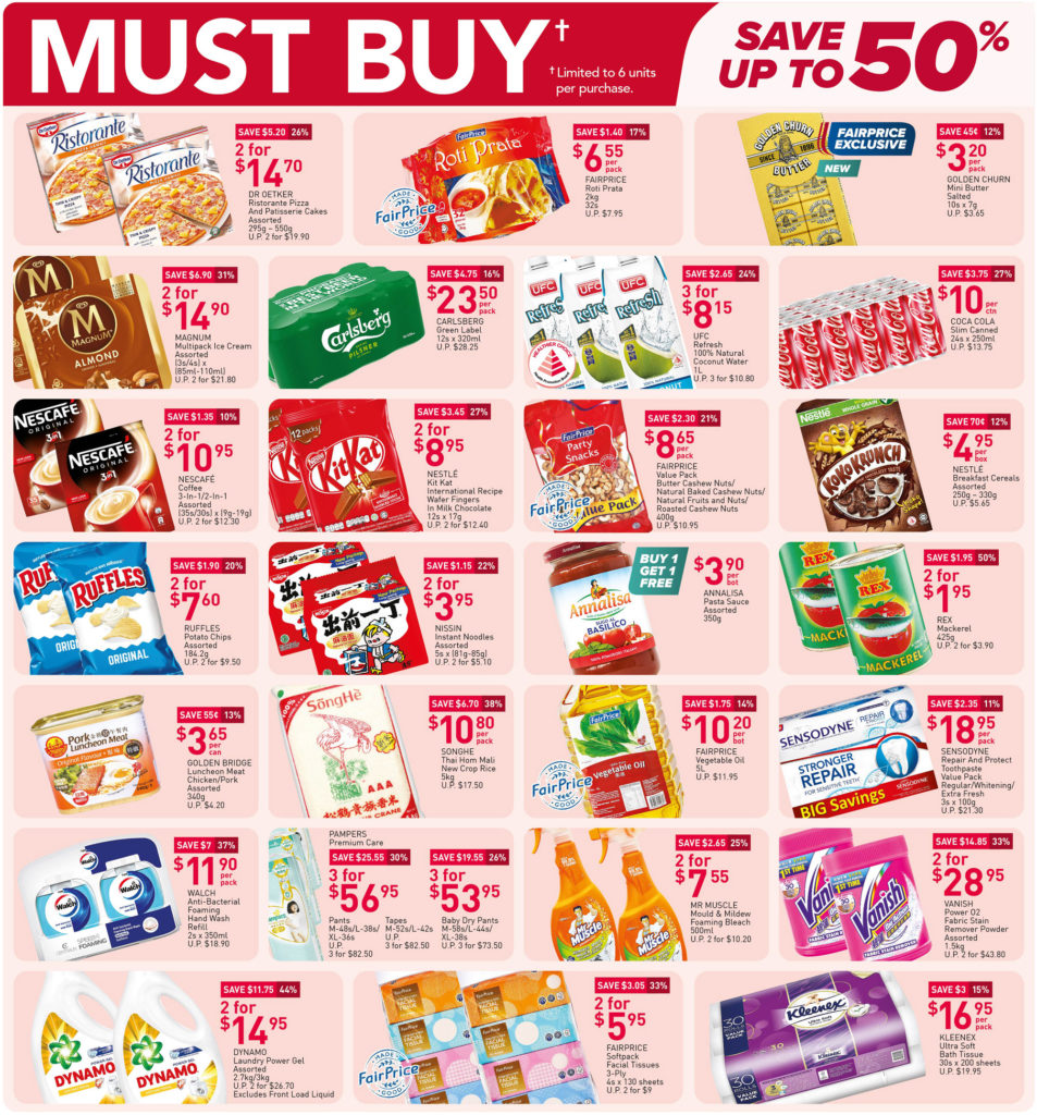 NTUC FairPrice Singapore Your Weekly Saver Promotions 29 Apr - 5 May 2021 | Why Not Deals