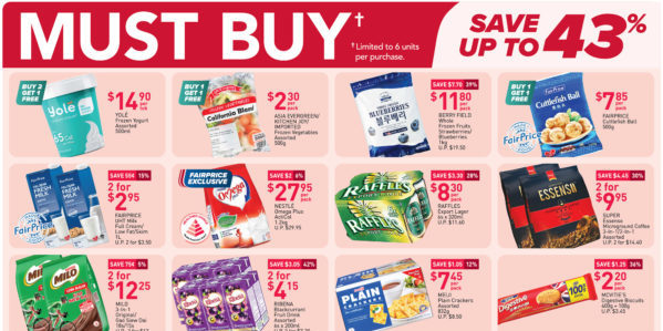 NTUC FairPrice Singapore Your Weekly Saver Promotions 8-14 Apr 2021