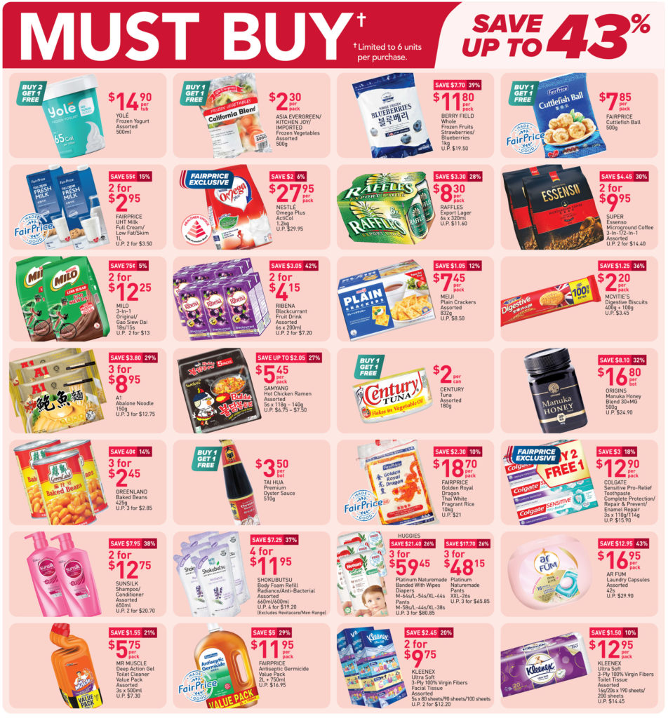 NTUC FairPrice Singapore Your Weekly Saver Promotions 8-14 Apr 2021 | Why Not Deals