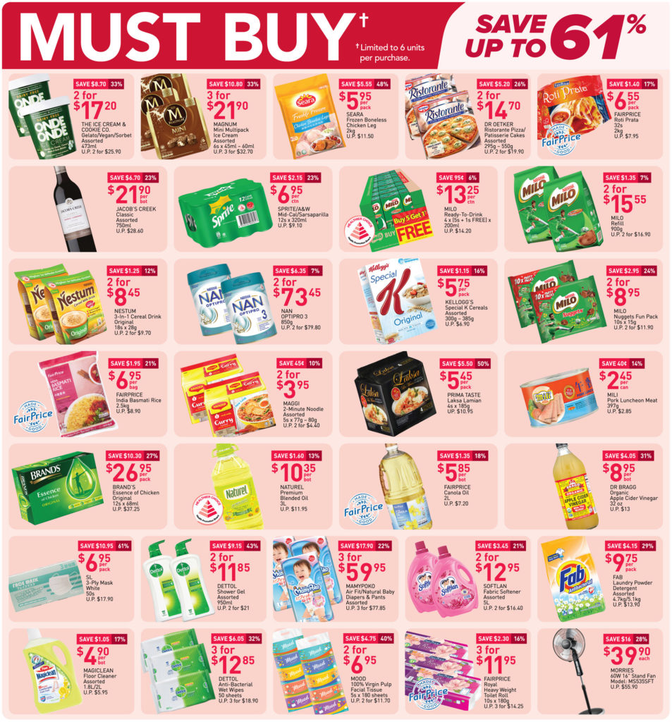 NTUC FairPrice Singapore Your Weekly Saver Promotions | Why Not Deals 18