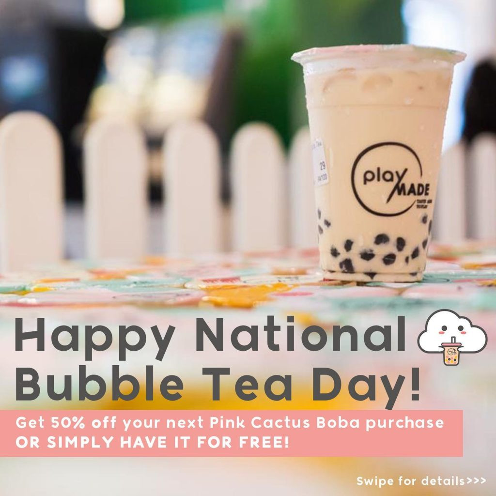 Playmade Singapore Happy National Bubble Tea Day Promotions 30 Apr - 2 May 2021 | Why Not Deals