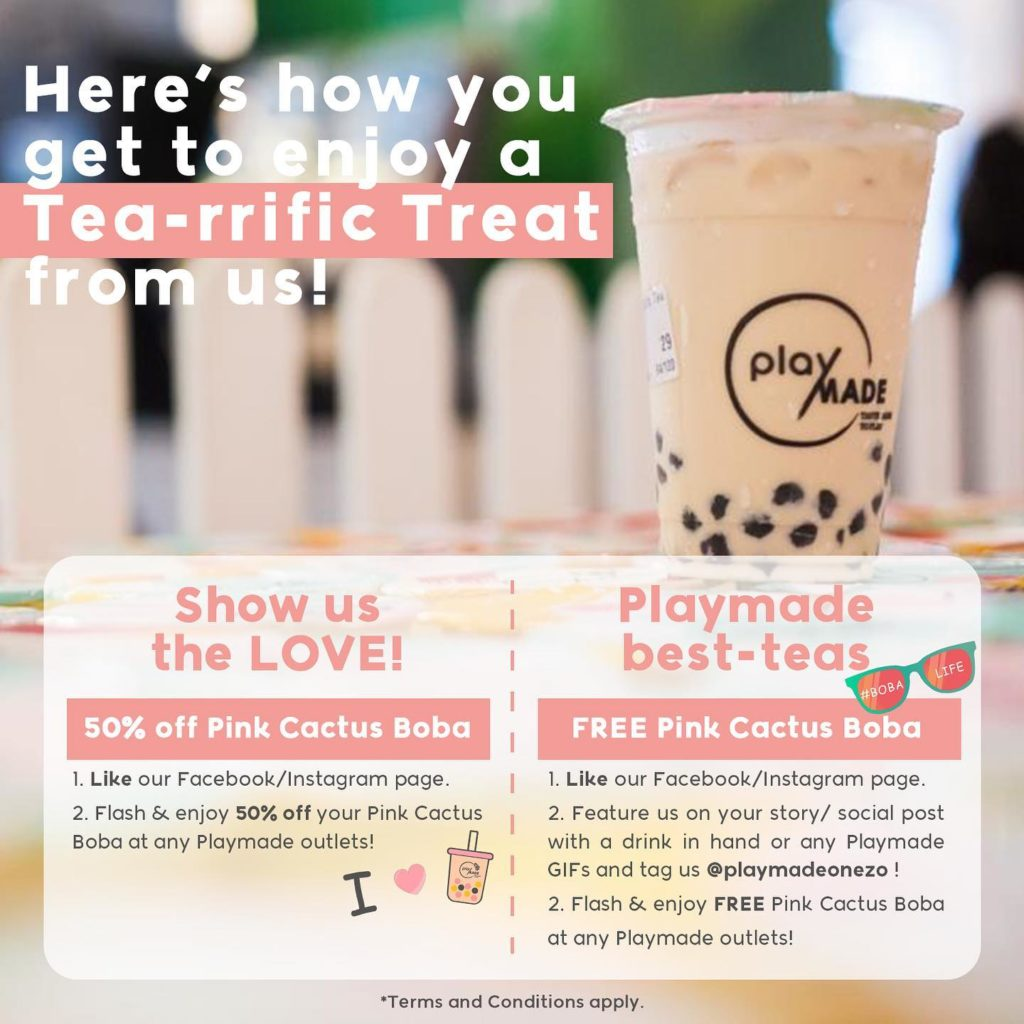 Playmade Singapore Happy National Bubble Tea Day Promotions 30 Apr - 2 May 2021 | Why Not Deals 1