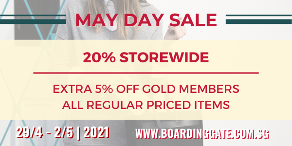 BOARDING GATE MAY DAY SALE – 20% OFF STOREWIDE + 50% OFF LUGGAGE