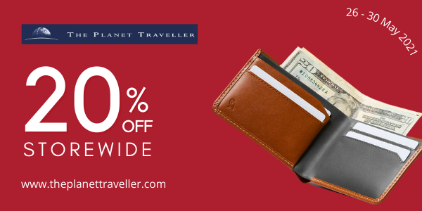 The Planet Traveller Mid Year Sale – 20% OFF STOREWIDE + 50% OFF LUGGAGE