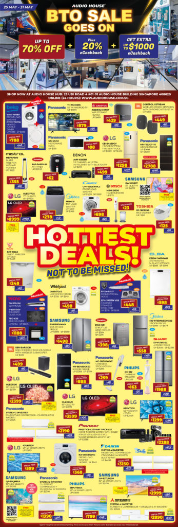 Audio House BTO Sale Goes On   Why Not Deals