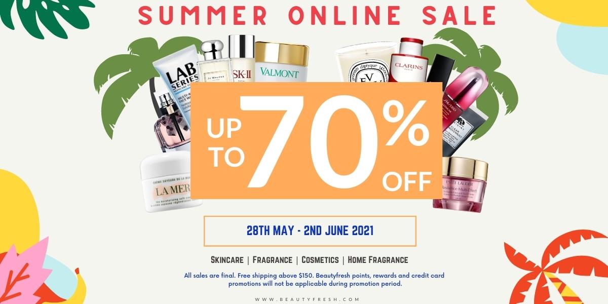 Beautyfresh Warehouse Sales – Savings up to 70% off La Mer, Estee Lauder, Jo Malone, Di