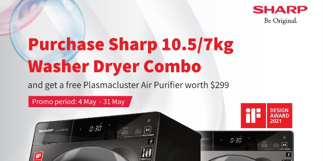 [Sharp May Promo] Receive FREE Gifts worth more than $899 w/ Purchase of Selected Sharp Electronics!