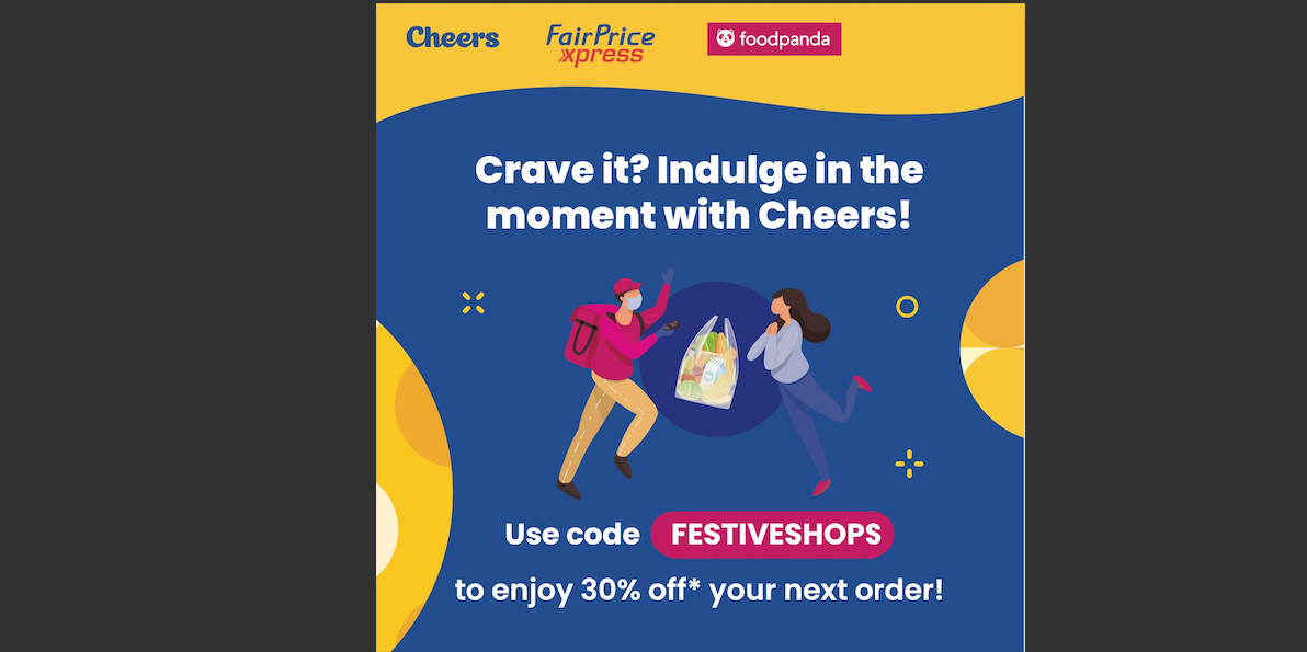 30% off Foodpanda when you shop with Cheers or FairPrice Xpress