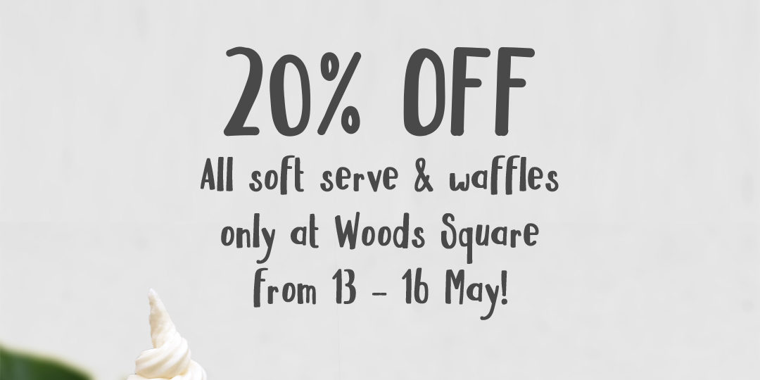 Cat & the Fiddle Singapore 20% Off All Soft Serve & Waffles Promotion 13-16 May 2021
