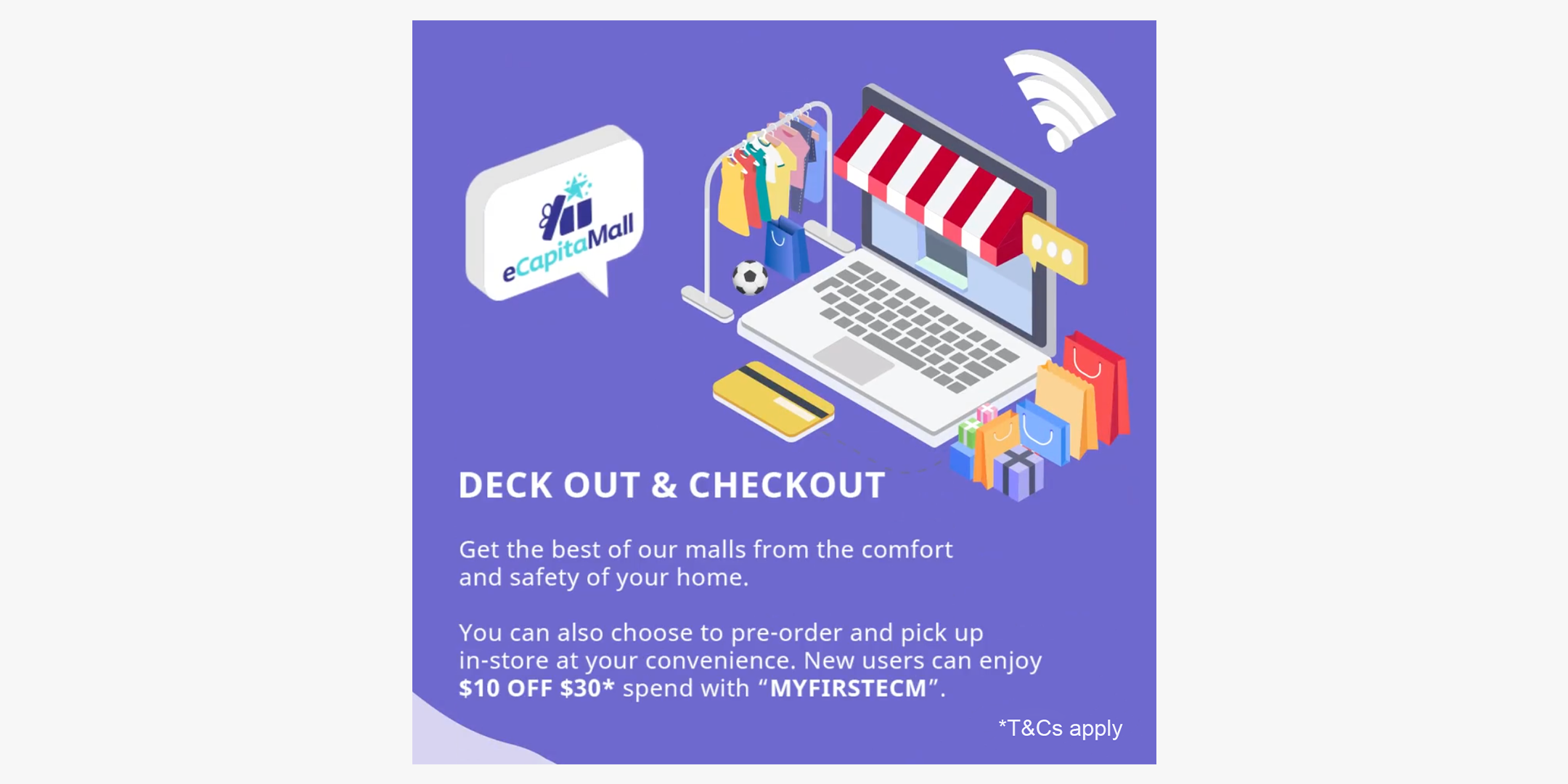 eCapitaMall: Deck out & Checkout