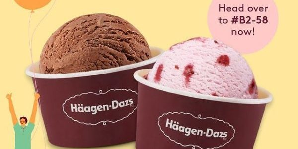 Häagen-Dazs Singapore Plaza Singapura Outlet Wednesdays 1-for-1 Promotion 12 May 2021