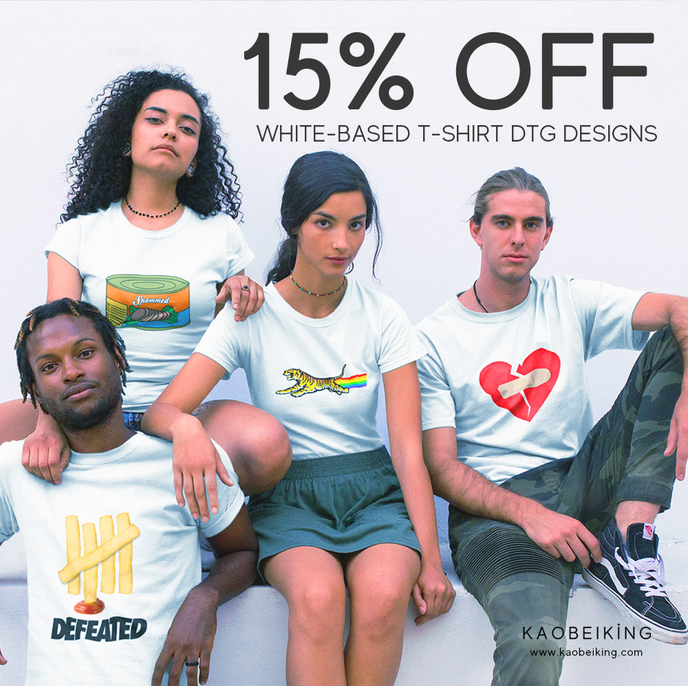 15% OFF All White-based T-shirt DTG Designs | Why Not Deals