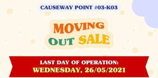 Refash Singapore Causeway Point Outlet Moving Out Sale ends 26 May 2021