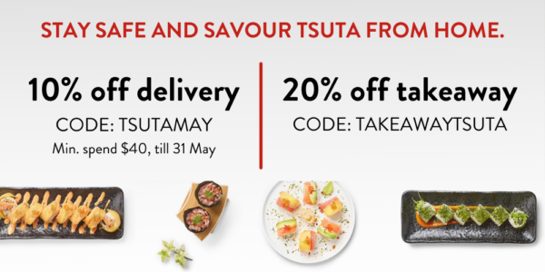 Tsuta Singapore 20% Off Takeaway & 10% Off Delivery with Promo Codes