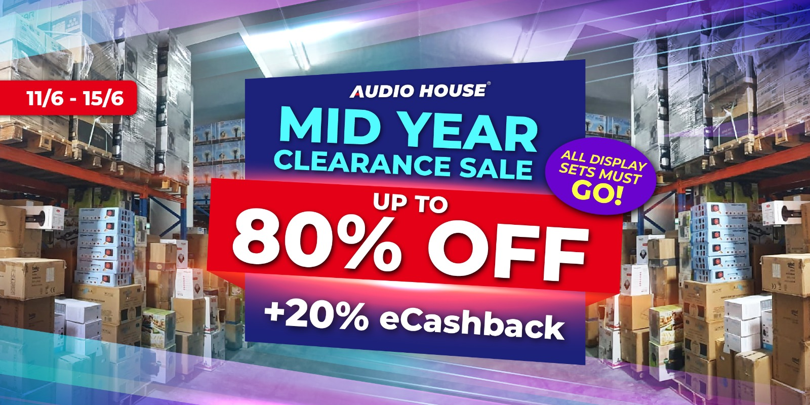 [Audio House Mid-Year Clearance Sale] Get Up to 80% OFF + Extra 20% eCashback with Every $100 Spent!