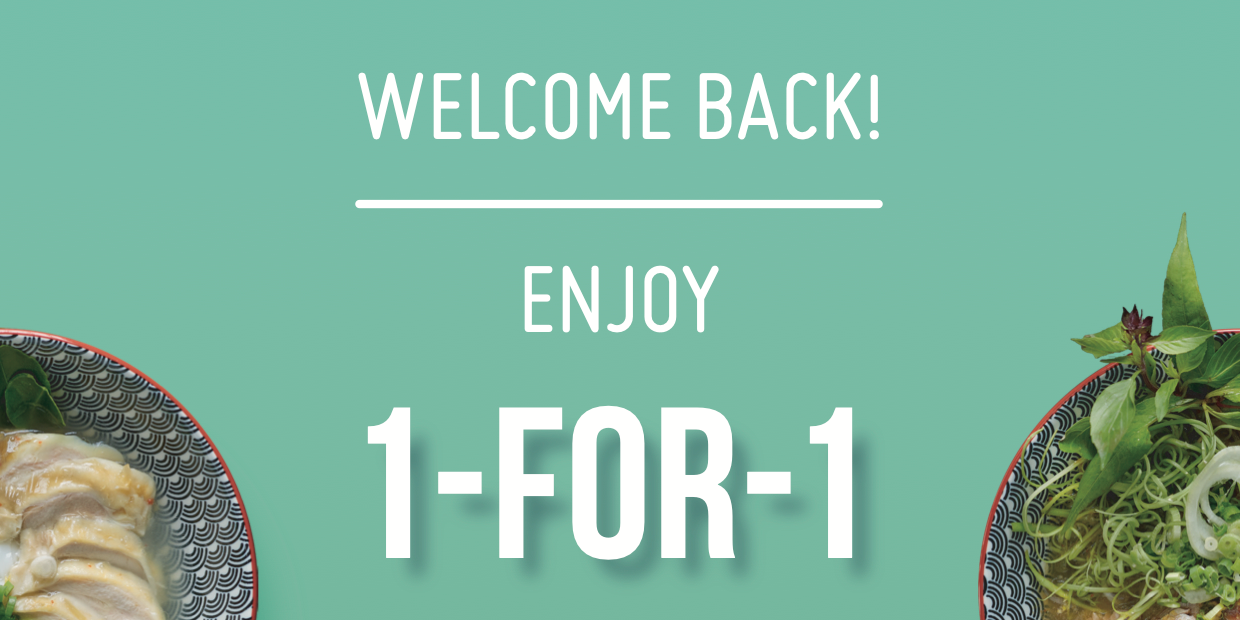 [Reopening Special] Mrs Pho welcomes 1-FOR-1 Mains from 21-25 June!