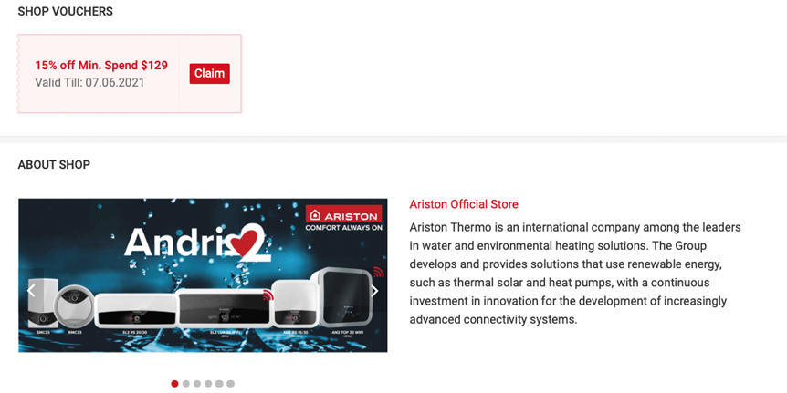 [Ariston Thermo Promotion] Get 15% OFF Any Ariston water heater from now to 7 June 2021