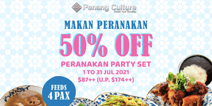 Enjoy the Best of Peranakan Flavours at Penang Culture this July: 50% off Peranakan Party Set!