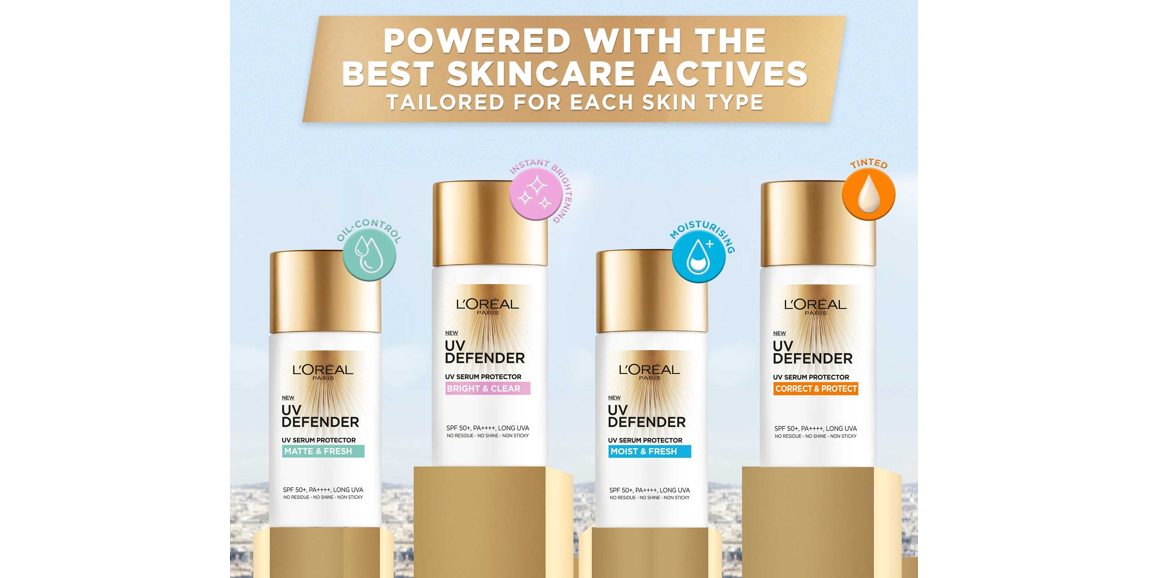 Step into the Light with L'Oréal's New UV Defender Sunscreen