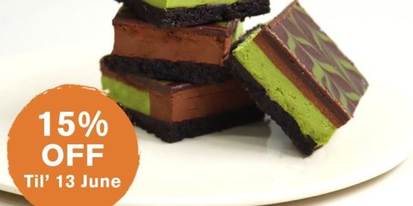 Cedele Singapore 15% Off Chocolate Matcha Truffle Square Father's Day Promotion ends 13 Jun 2021