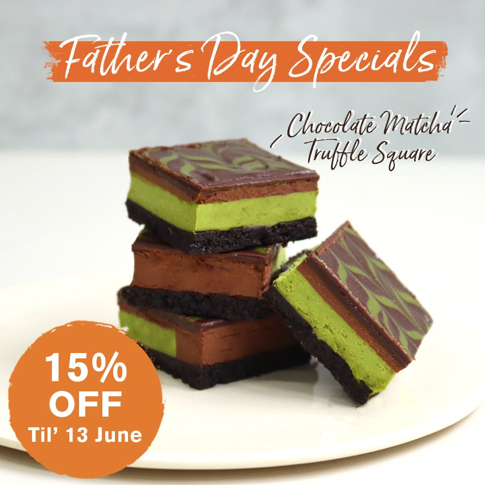 Cedele Singapore 15% Off Chocolate Matcha Truffle Square Father's Day Promotion ends 13 Jun 2021   Why Not Deals
