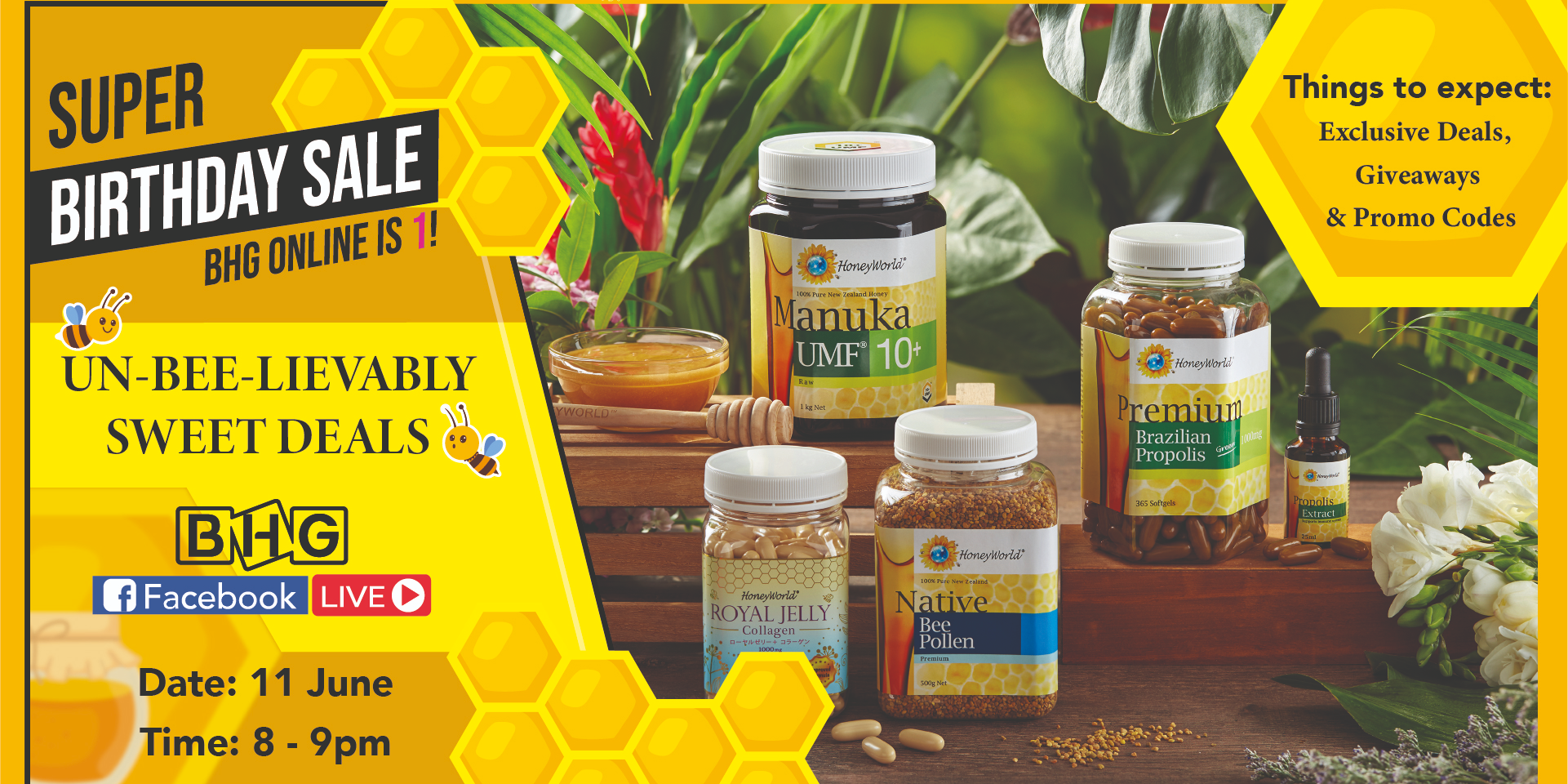 Un-BEE-lievably Sweet Deals, Giveaways, Promo Codes & More – BHG x HoneyWorld Live Stream