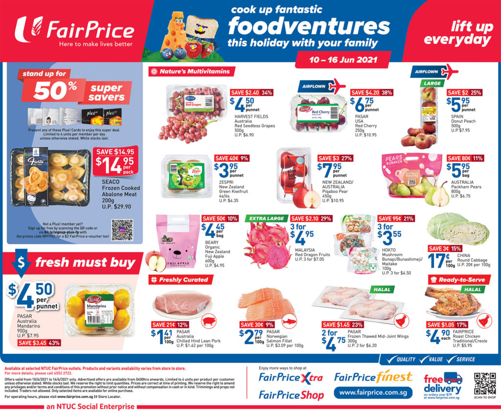 NTUC FairPrice Singapore Your Weekly Saver Promotions 10-16 Jun 2021   Why Not Deals 9