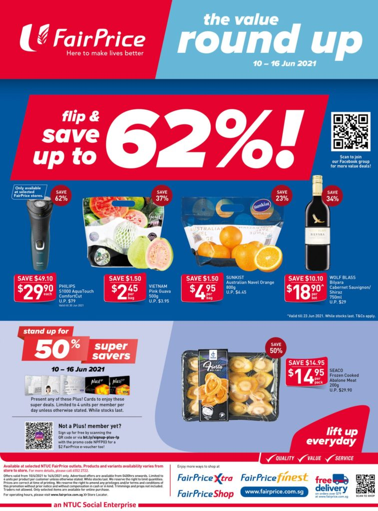 NTUC FairPrice Singapore Your Weekly Saver Promotions 10-16 Jun 2021   Why Not Deals 10