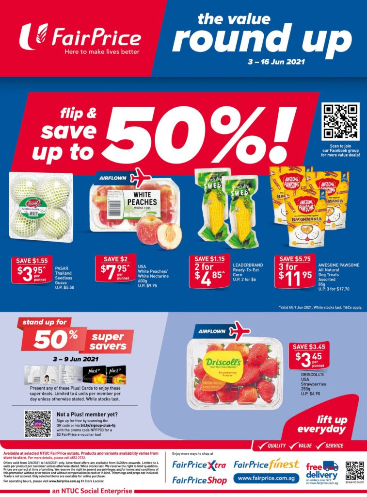 NTUC FairPrice Singapore Your Weekly Saver Promotions 10-16 Jun 2021   Why Not Deals 11