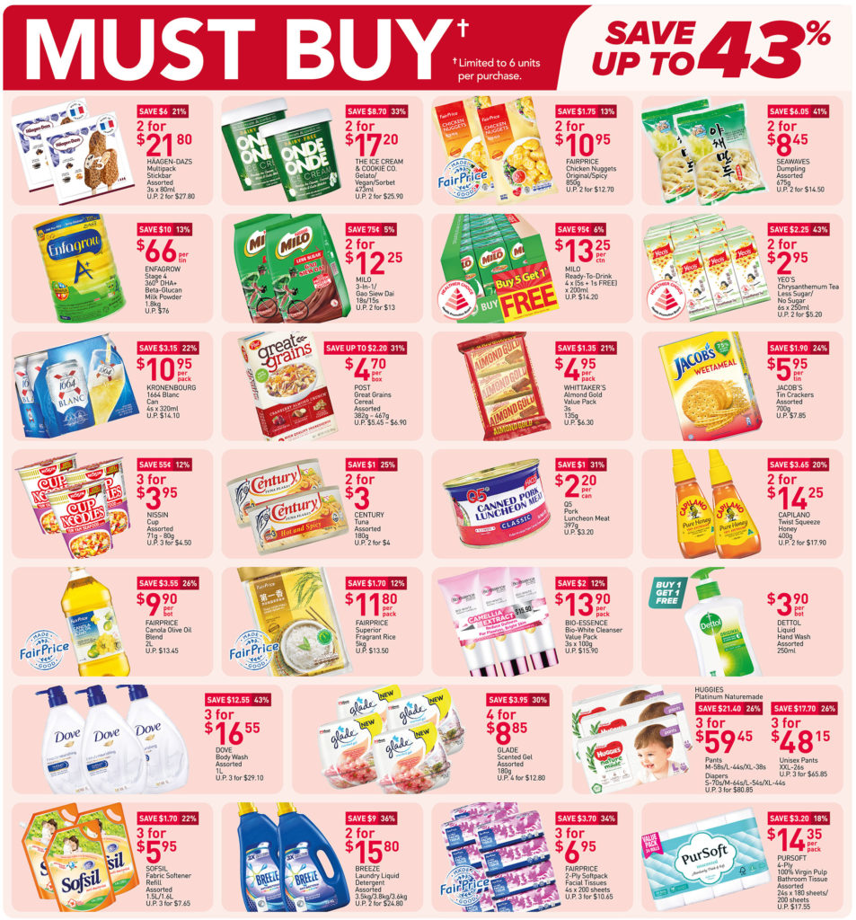 NTUC FairPrice Singapore Your Weekly Saver Promotions 10-16 Jun 2021   Why Not Deals