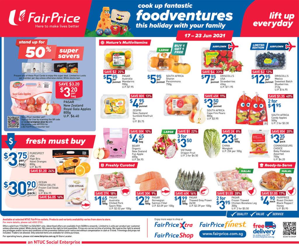 NTUC FairPrice Singapore Your Weekly Saver Promotions 17-23 Jun 2021 | Why Not Deals 9