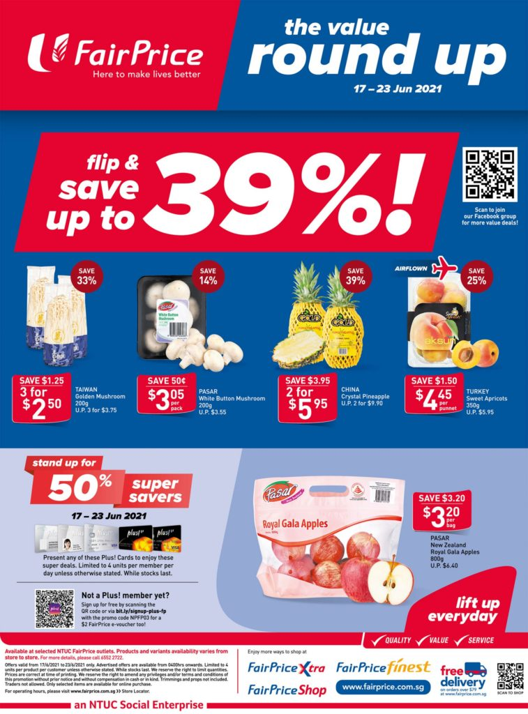 NTUC FairPrice Singapore Your Weekly Saver Promotions 17-23 Jun 2021 | Why Not Deals 10