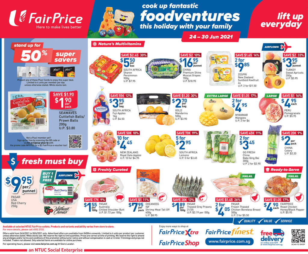 NTUC FairPrice Singapore Your Weekly Saver Promotions 24-30 Jun 2021   Why Not Deals 9