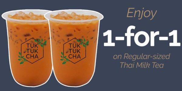 Tuk Tuk Cha Singapore 1-for-1 Thai Milk Tea Promotion 1-4 Jun 2021