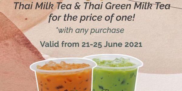 Tuk Tuk Cha Singapore Reopening 1-for-1 Promotion 21-25 Jun 2021