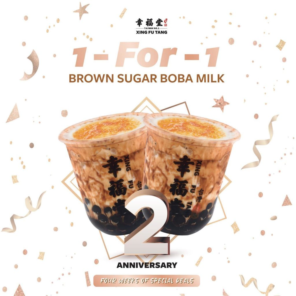 Xing Fu Tang Singapore 1-for-1 Brown Sugar Boba Milk 2nd Anniversary Promotion 7-13 Jun 2021 | Why Not Deals