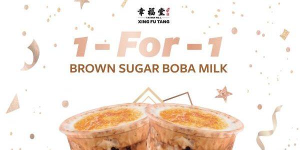 Xing Fu Tang Singapore 1-for-1 Brown Sugar Boba Milk 2nd Anniversary Promotion 7-13 Jun 2021