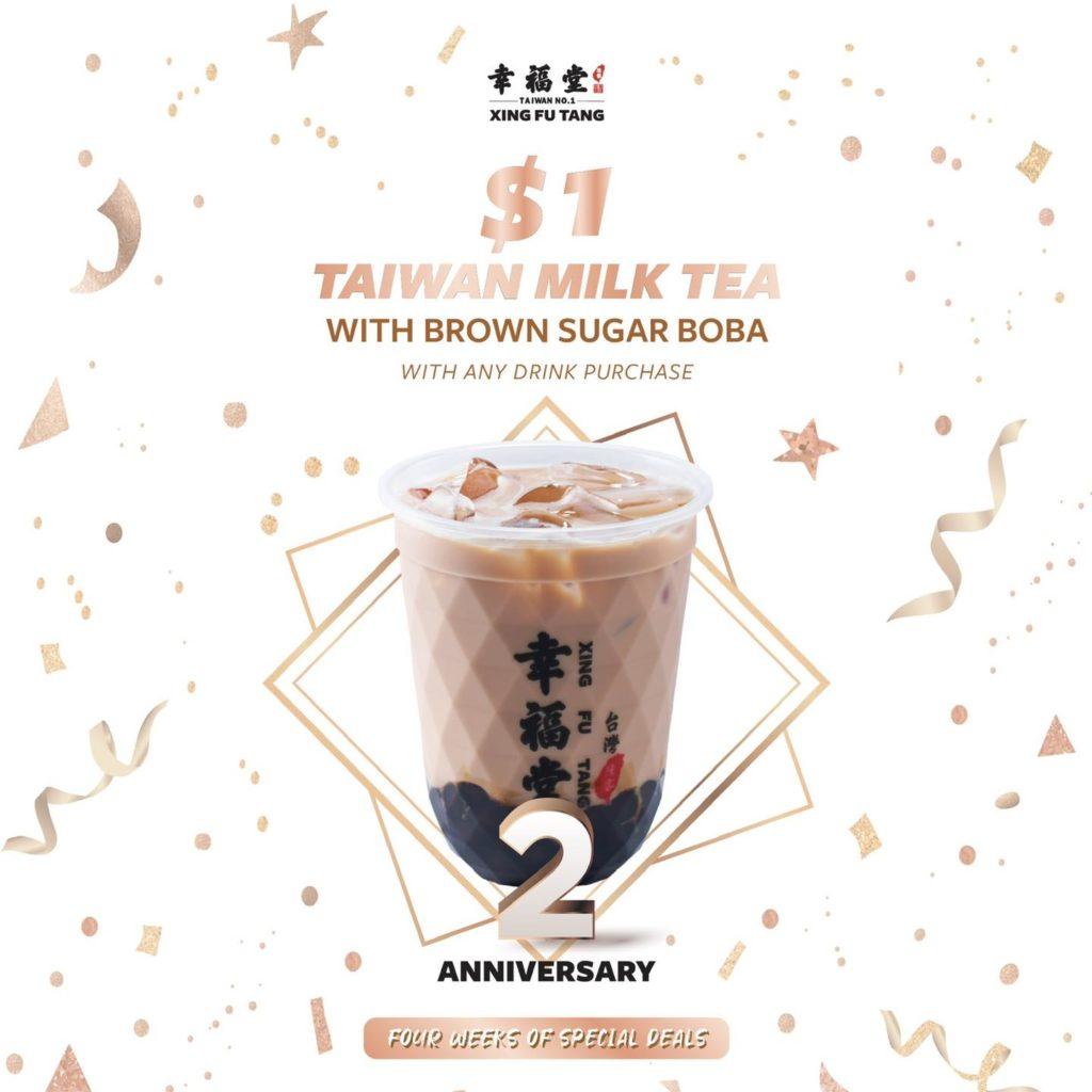 Xing Fu Tang Singapore 2nd Anniversary $1 Taiwan Milk Tea Promotion 21-27 Jun 2021 | Why Not Deals