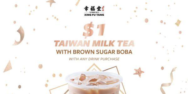 Xing Fu Tang Singapore 2nd Anniversary $1 Taiwan Milk Tea Promotion 21-27 Jun 2021