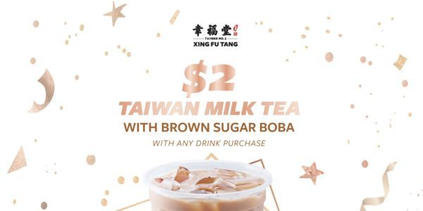 Xing Fu Tang Singapore 2nd Anniversary $2 Taiwan Milk Tea With Brown Sugar Boba Promotion 14-20 Jun 2021