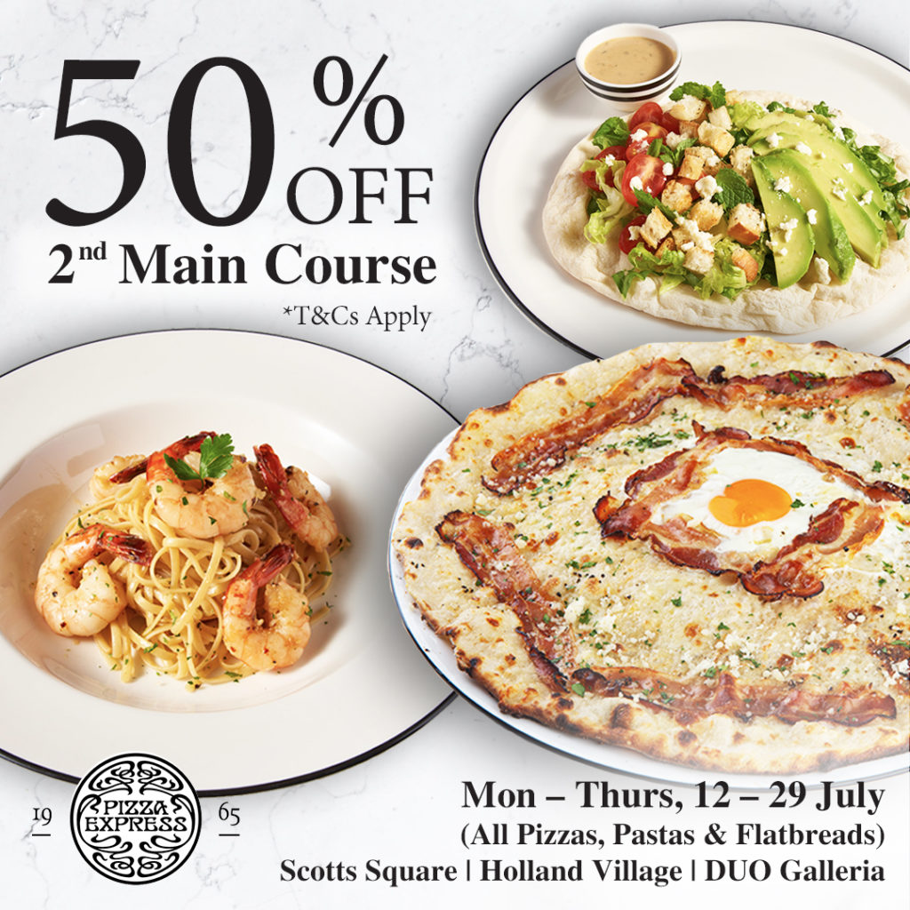 50% OFF 2nd Main Course at PizzaExpress! | Why Not Deals