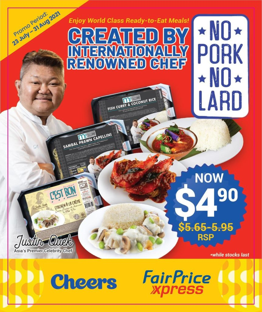 Ready Meals by Les Amis founder available at Cheers & FairPrice Xpress for less than $5! | Why Not Deals