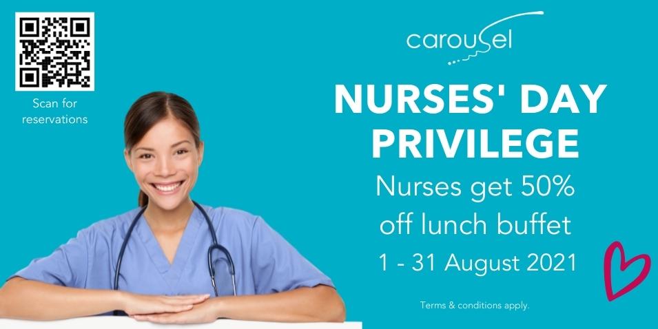 Nurses Get 50% Off Lunch Buffet in August