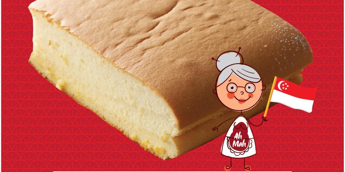 $5.60 (U.P.$8.80) Ah Mah Original Castella Cake National Day Special (1-10 August 2021)
