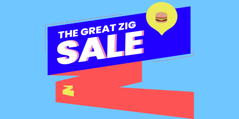 The Great Zig Sale – up to 50% off Takeaways from Cat & The Fiddle, Teafolia and More!