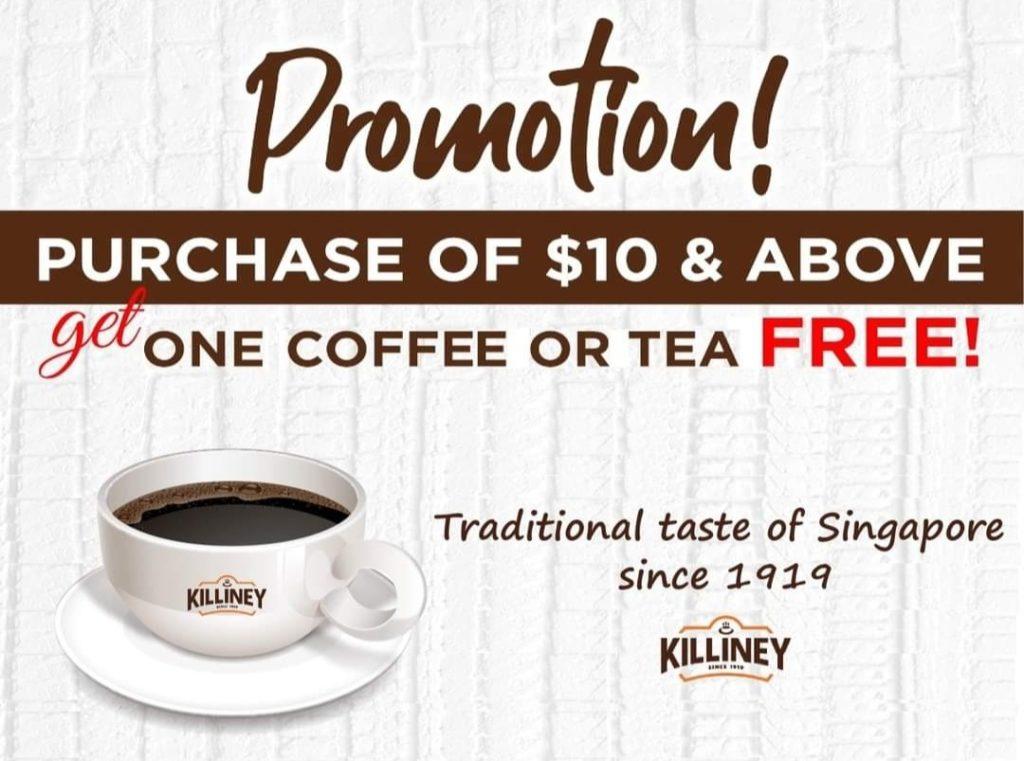 FREE kopi at Killiney Kopitiam (Wisteria Mall)   Why Not Deals