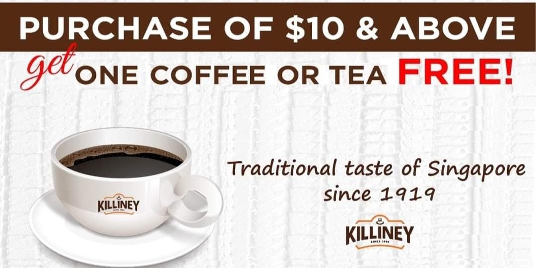 FREE kopi at Killiney Kopitiam (Wisteria Mall)