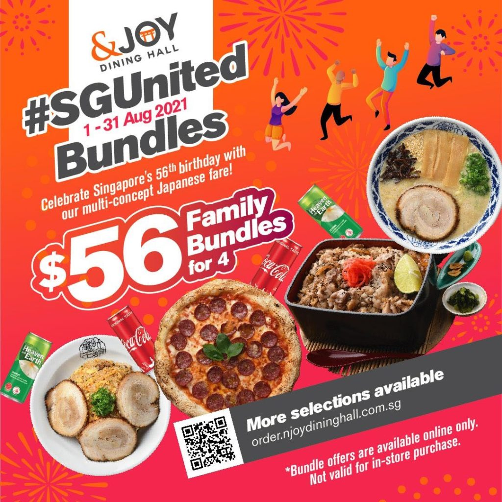 Celebrate SG's 56th with $56 Family Bundles for 4 at &JOY Dining Hall   Why Not Deals