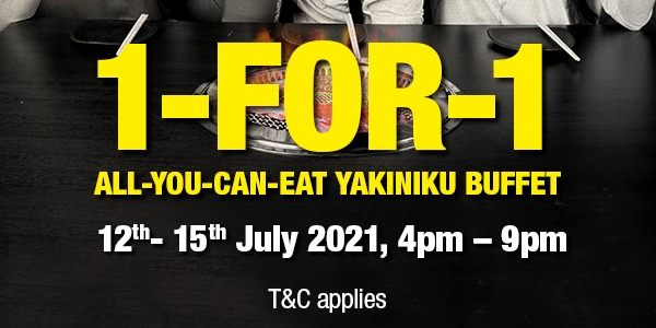1-for-1 All You Can Eat Rocku yakiniku This July