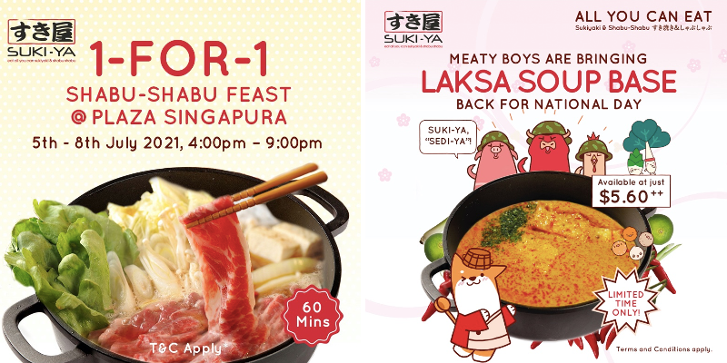 Best Food Deals In July Here At Suki-Ya: 1-for-1 Buffet & Laska Soup Promo!